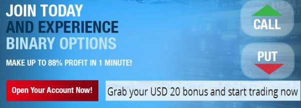 $20 Binary Forex No-Deposit Bonus